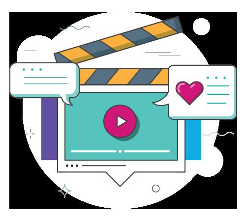 Social media video creation
