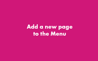 Add a Page to the Menu – WordPress Gutenberg