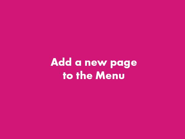 Add a Page to the Menu – WordPress Gutenberg
