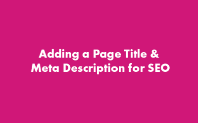 SEO Adding Page Title and Meta Description – WordPress Gutenberg