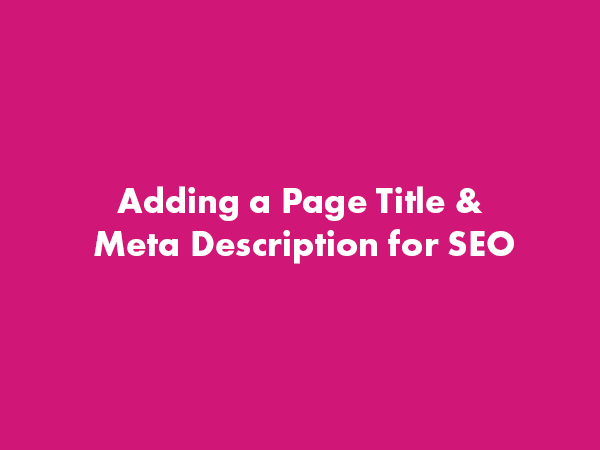 SEO Adding Page Title and Meta Description – WordPress Gutenberg