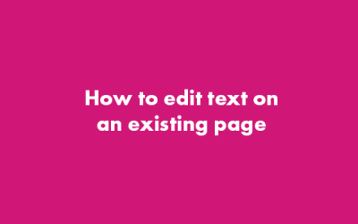 How to Edit Text on an Existing Page – WordPress Gutenberg